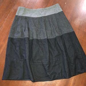 VINCE skirt wool flannel